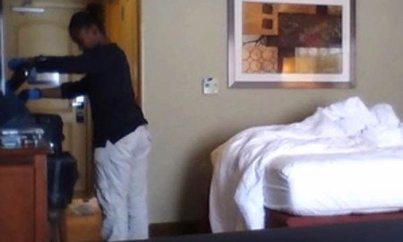SHOCK VIDEO: Hotel Guest Captures What Happens When Housekeeping Came To Clean The Room