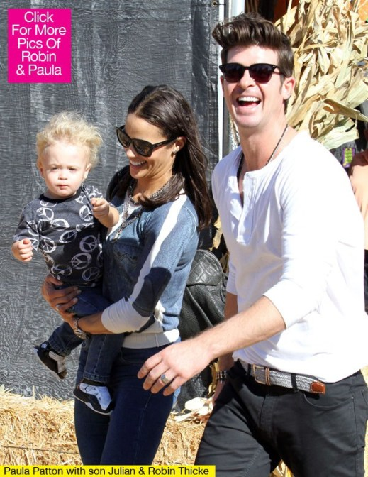 Robin Thicke, Paula Patton reunite to take son to Los Angeles playground
