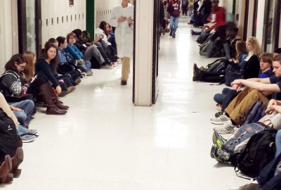 ETHS Students Stage Demonstration Over Michael Brown, Eric Garner Deaths