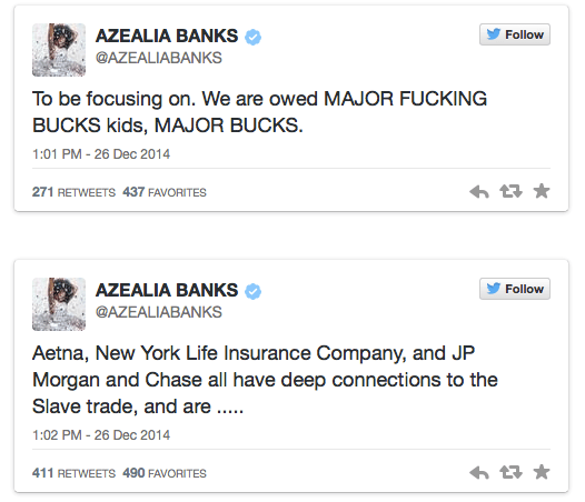 banks tweets