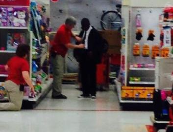 TARGET EMPLOYEES HELP YOUNG MAN PREP FOR JOB INTERVIEW, TIE HIS TIE