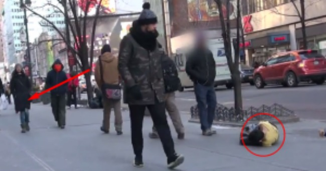 A Homeless Child Lay Freezing To Death On The Streets & Only One Person Stops To Help.  Check Out Who It Was!