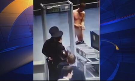 [VIDEO] Man Strips Naked At Airport Security Upset Because He Had To Remove His Belt