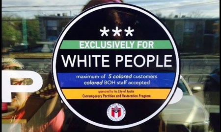 whites only sticker