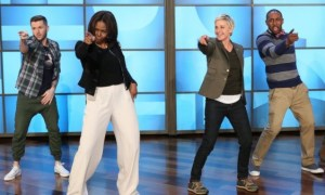 Michelle Obama has dance-off with Ellen DeGeneres