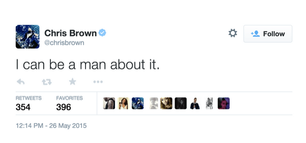 chris brown tweets