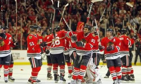 Chicago Black Hawks Win Stanley Cup In Chicago, First Time In 77 Years