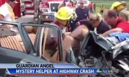 A Real Angel Showed Up To A Terrible Accident Scene To Perform A Miracle [VIDEO]