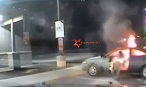 Austin Police, Parking Lot, Car Explodes, Man Injured