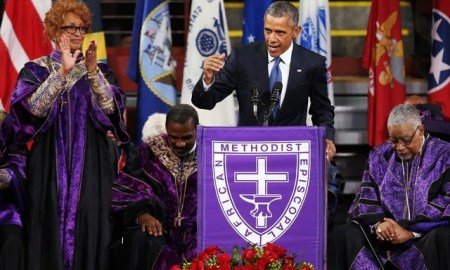 If You Missed President Obama's Eulogy Speech & Rendition Of Amazing Grace, See A Clip Of It Here