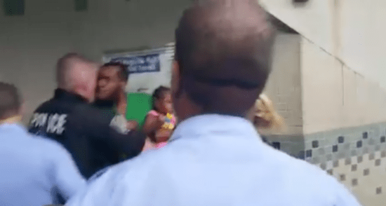 Philly Cops Assault Black Man Over A $2.25 Train Fee While He Was Holding His Baby