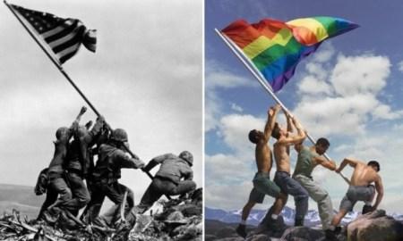 Iwo Jima Marines Photo Adaptation Depicting The Gay Pride Flag Ignites Outrage!