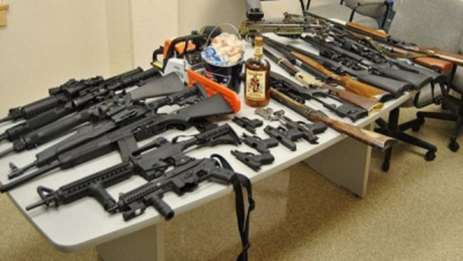 Police Finds 1200 Guns & Tons Of Ammunition In A Dead Man's Home