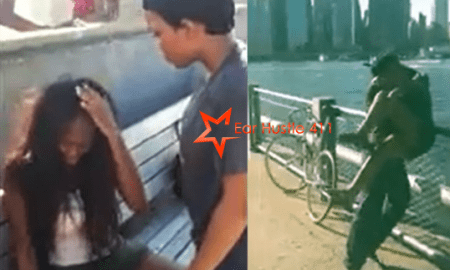 Mother Beats Her 14 Year Old Daughter & Tries To Throw Her Friend In The River When She Catches Her Daughter Sitting On The Lap Of A 21 Year Old Man