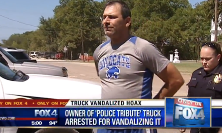 Texas Man Arrested After Lying Stating #Black Lives Matter Members Vandalized His Truck
