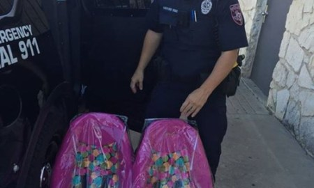 Great Police Work: Instead Of Issuing A Ticket, Texas Cops Buys Car Seats For Father Going Through Hardship