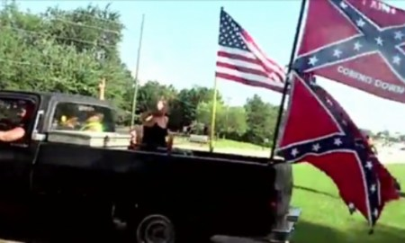 15 Racist Flying Confederate Flags & Crashing A Black Childs Party Charged With Terrorism After Threatening To Kill Yawl N*ggers!