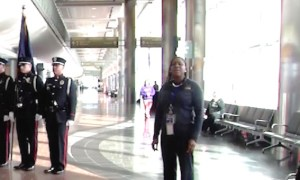 Alaskan Airlines Employee Sings the National Anthem to Passengers for Fallen Soldier Who's Ashes Were Being Flown Home on Their Flight Video]