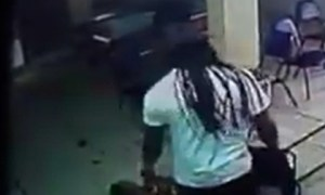 Man seen In Video Beating His Girlfriend With A Steel Strip & Kicking Her In The Face Several Times [Video]