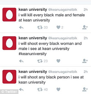 twitter image of threats kean unviersity
