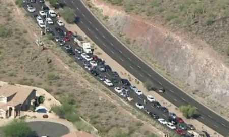 Protesters Shut Down Major Highway To Trump Rally In Arizona