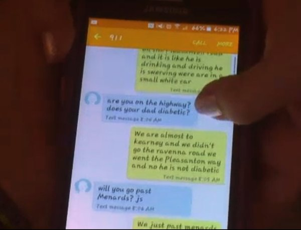 911 text for DUI dad