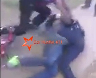 [Video] A Group Of Young Men Attacks Cop For Beating Up Their Neighbor