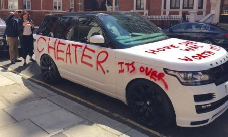 """Oh Snap!!! Scorned Girlfriend Spray Paints """"Cheater, It's Over & Hope She Was Worth It On $100K Range Rover"""