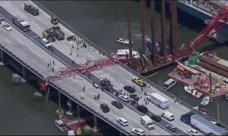 Huge Crane Collapses Onto New York Tappan Zee Bridge; 2 Injured