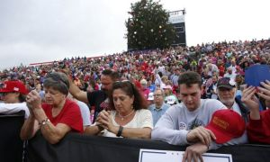 Hundreds Come Out In Washington to Provide Prayer Shield for Donald Trump