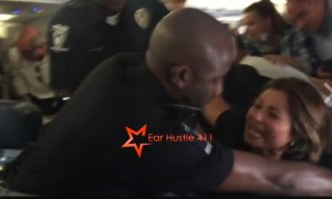 Crazed White Woman Attacks Black Cops On Plane & Then Try's To Play The Victim [VIDEO]