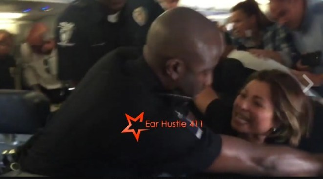Crazed White Woman Attacks Black Cops On Plane & Then Tries To Play The Victim [VIDEO]