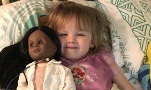 "2 -Year Old Defends Her Choice Of Doll To Cashier, She Say, ""My Doll Is Pretty & She's A Doctor Like Me"