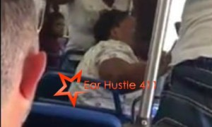 Girl Beats The Crap Out Of Her Own Mother On A Crowded Bus While Everybody Sits & Watch