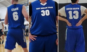 """Wet Dream Team"" Kicked Out Of Basketball League For Sexual and Racially Offensive Jerseys"