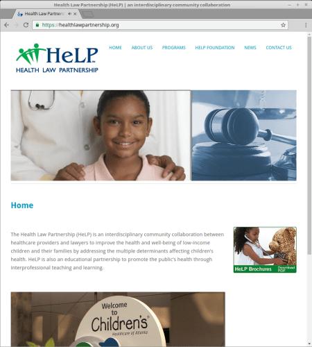 Health Law Partnership website