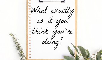 What Exactly is it You Think You're Doing?