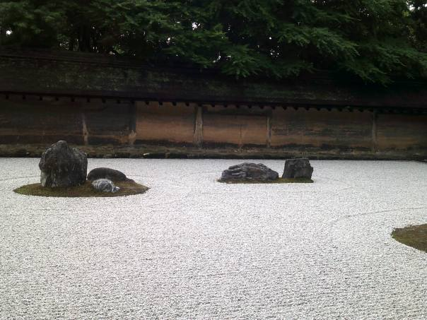 Rock Garden at the Zen Temple Ryoan-Ji