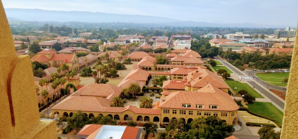 Spanish Colonial Style Stanford Campus from the Hoover Tower