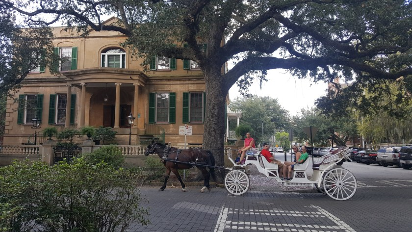 Horse Carriage ride by an Antebellum house