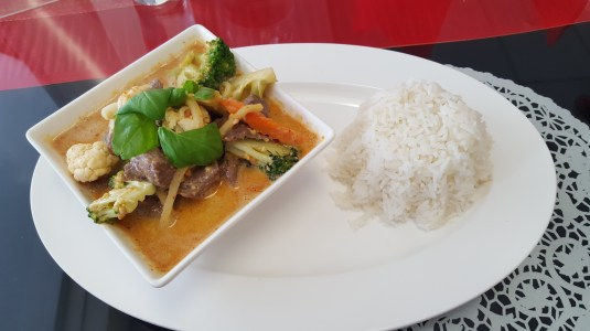 Panang Curry from a local Thai Restaurant.