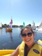 Truman sailing with Whanganui Intermediate!