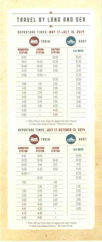 heritage park train boat schedule
