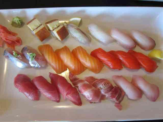 big plate of nigiri shiros seattle