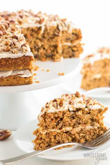 Wholesome Yum Low Carb Carrot Cake