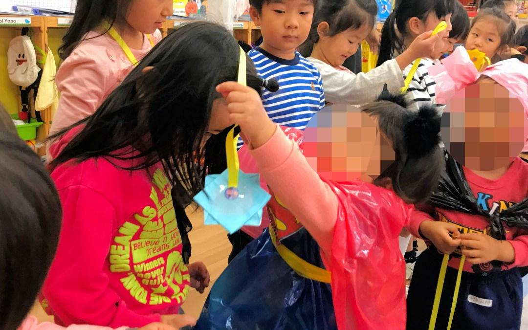 どんぐり保育園の子供たちの訪問