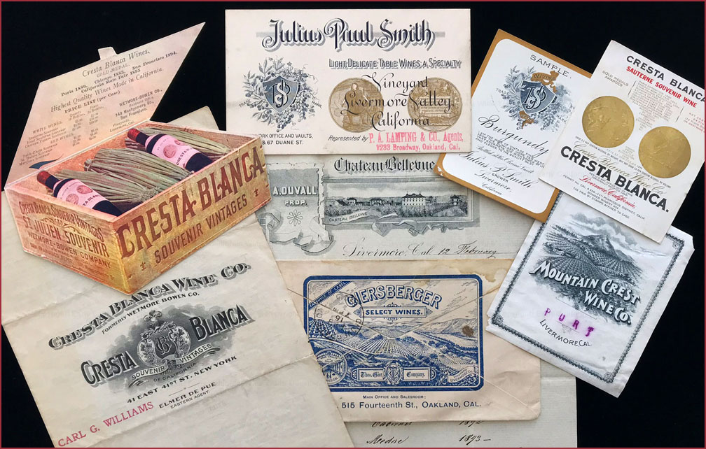 Pre-Prohibition winery ephemera