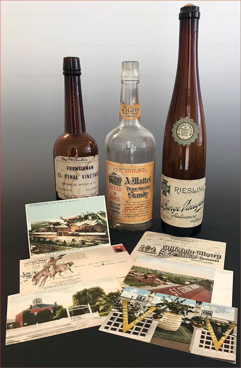 Wine bottles & ephemera