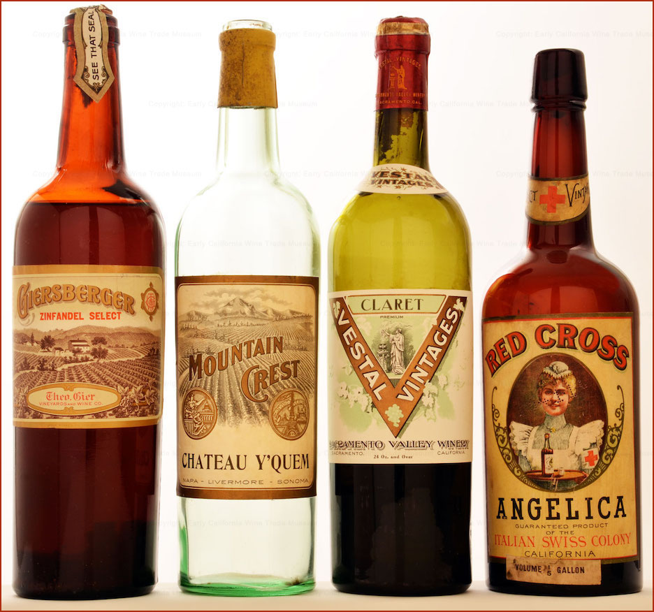 Pre-Prohibition California wines