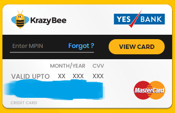 Krazybee pay card
